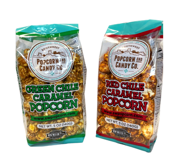 green and red chile popcorn