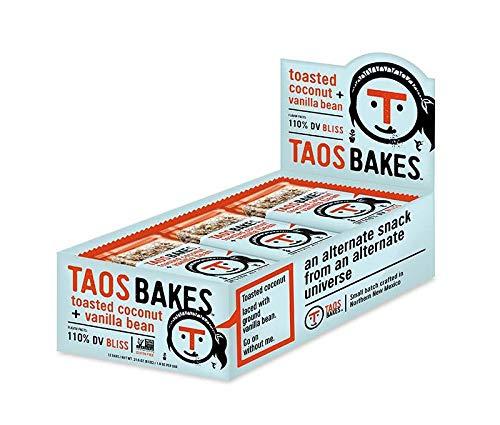 open box of taos bakes energy bars