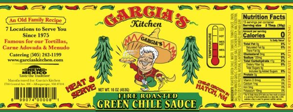 garcia's fire roasted green chile