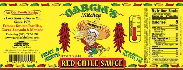 garcia's red chile sauce