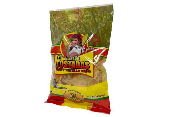 Bag of Lil Kristi's tortilla chips