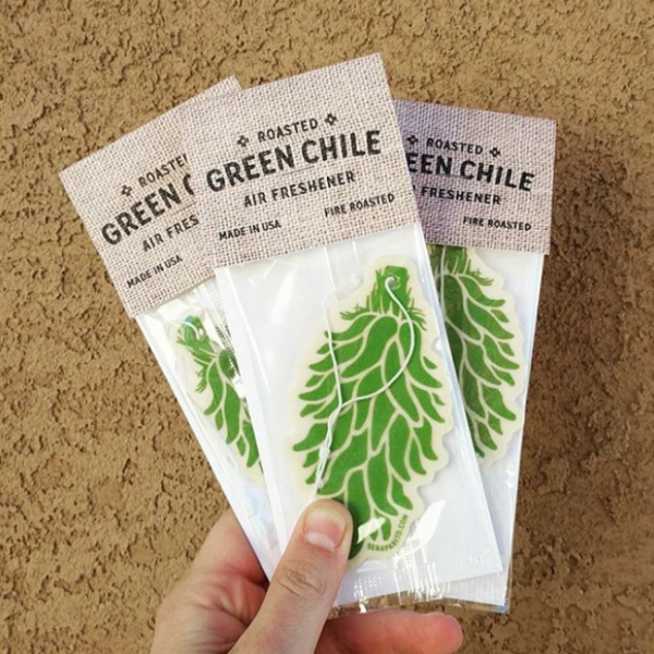 three pack of green chile air fresheners